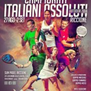 Campionati assoluti italiani padel outdoor 2018 locandina